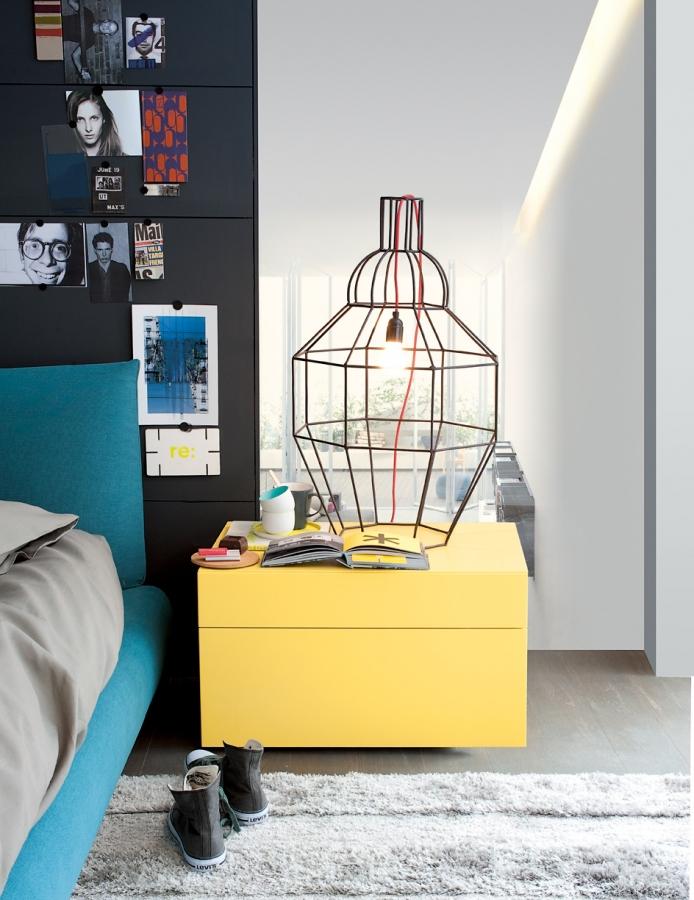 Abbinabili poliform night complements for 80m2 apartment design