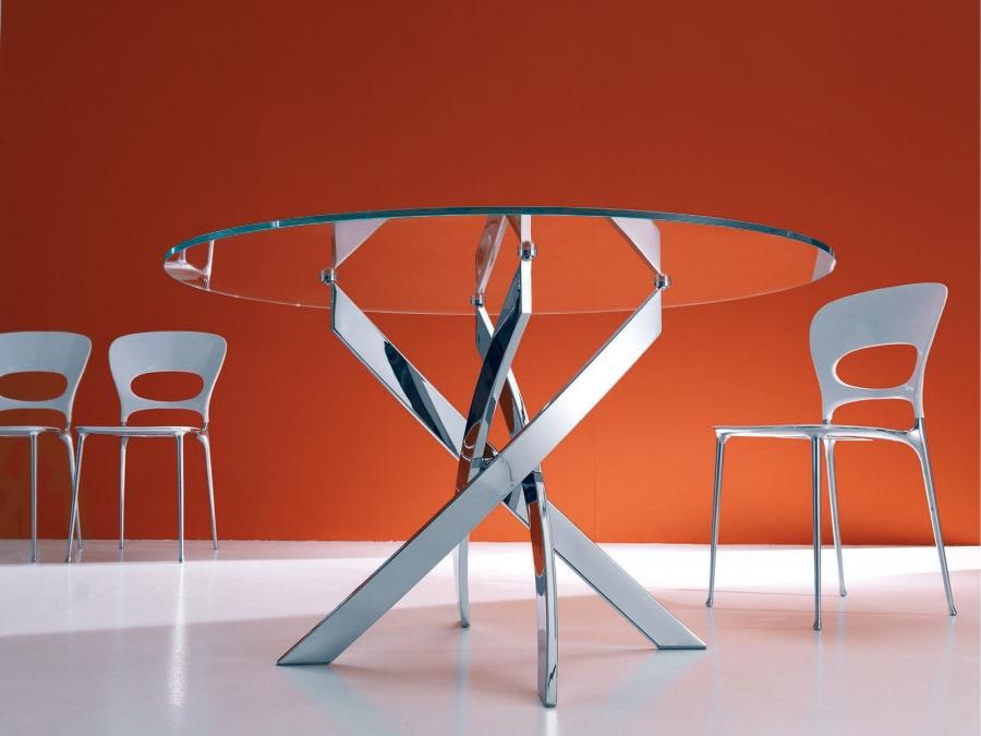 barone bontempi - tavoli - Tavolo Rotondo Moderno Design