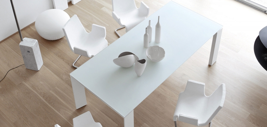 Twice bonaldo tables for Table extensible kristalia