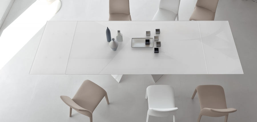 Prora bonaldo tables for Table extensible kristalia