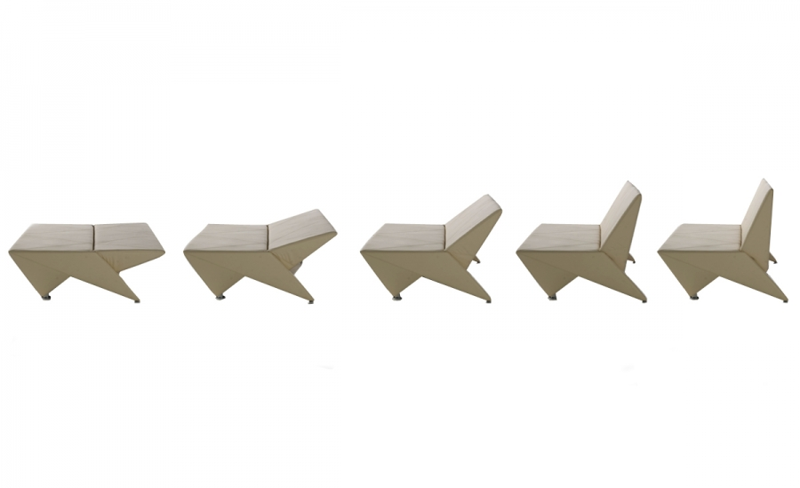 Origami cattelan italia poltrone e chaise longue for Chaise origami