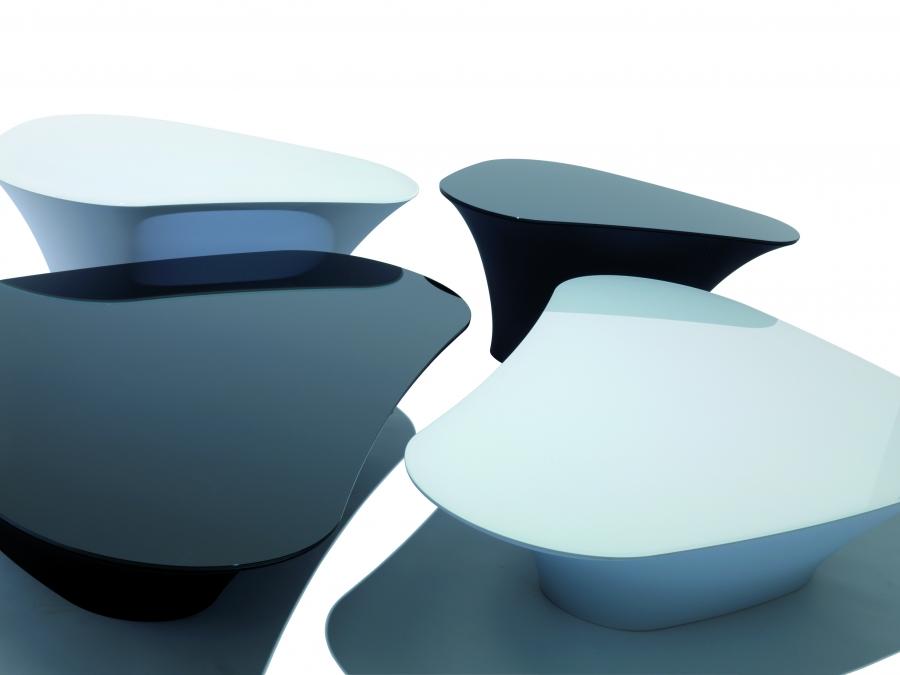 tavolini - Tavolino Design Gambe Legno Atari Cattelan