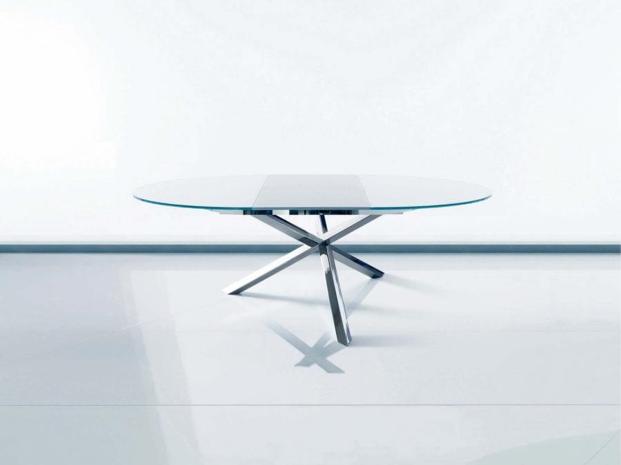 Tavolo rotondo in vetro allungabile | Higrelays