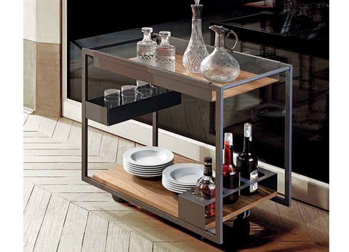 Mojito cattelan italia chariot bar for Carrello cucina design