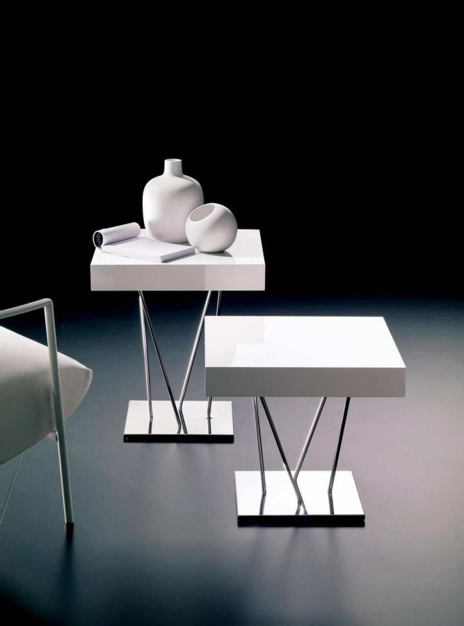 ginger bontempi - tavolini - Tavolino Acciaio Laccato Ginger Bontempi