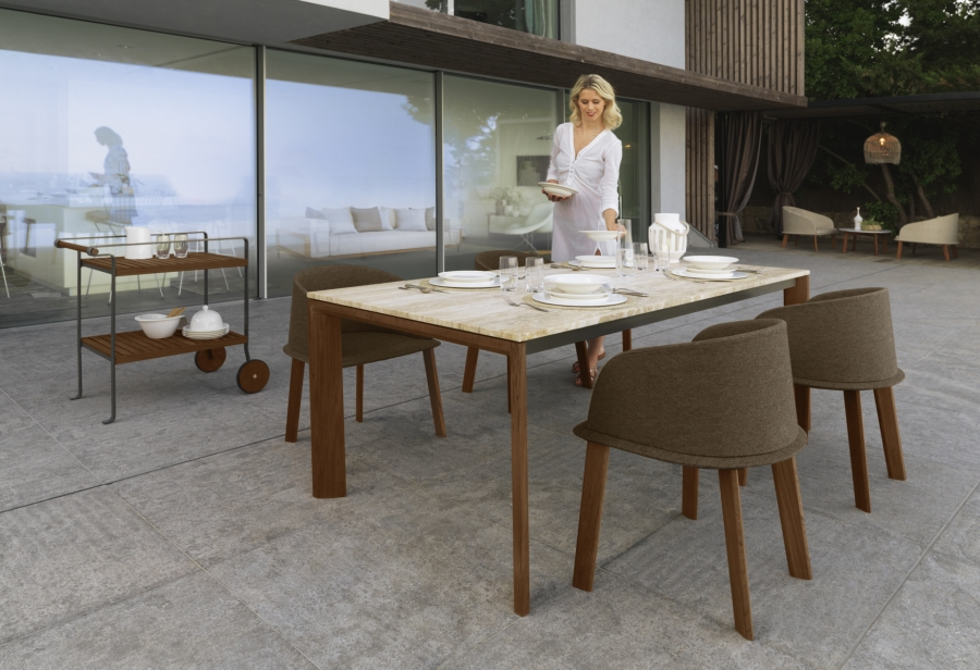Cleo talenti table tables for Table exterieur solide