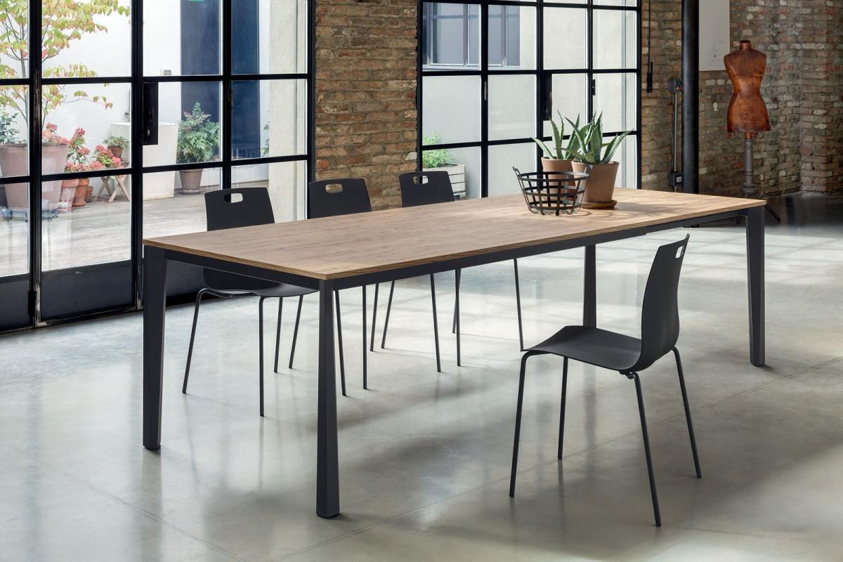 Prisma bontempi ingenia tavoli for Tavolo quadrato allungabile mondo convenienza