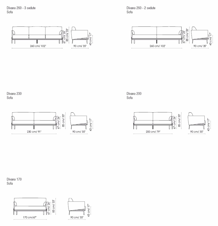 Divano Lineare Piedini Metallo Structure Sofa Bonaldo : Structure sofa bonaldo poltrone e divani