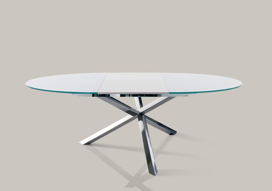 Trio bontempi ingenia tables for Tavolo rotondo kristalia