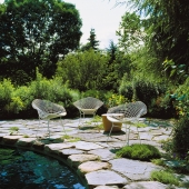 Bertoia Poltrona Relax Knoll - outdoor