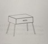 Version:  45 x 45.8 x h 49 cm 1 drawer  60 x 45.8 x h 49 cm 1 drawer  90 x 45.8 x h 49 cm 1 drawer