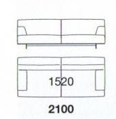 210 x 103.5 x h 75 cm