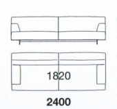 240 x 103.5 x h 75 cm