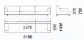 315 x 103.5 x h 75 cm