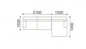 330 x 145 x h 75 cm Combination