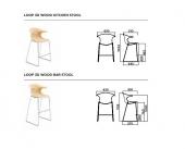 Loop 3D wood stool Infiniti