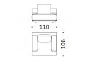 110 x 106 x h 82 cm Armchair