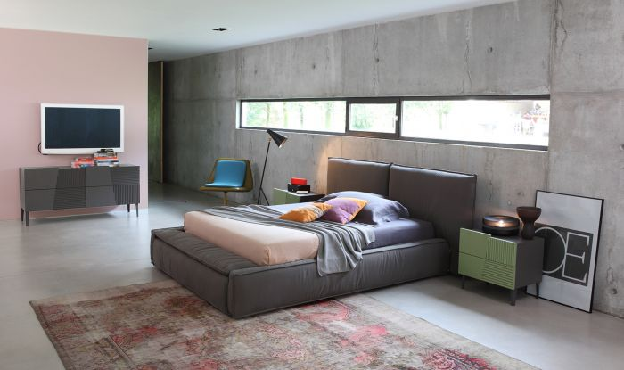 Padded bed with bench Devina Nais